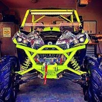 Rage Fab Full Front Bumper Maverick Brush Guard and Winch Mount